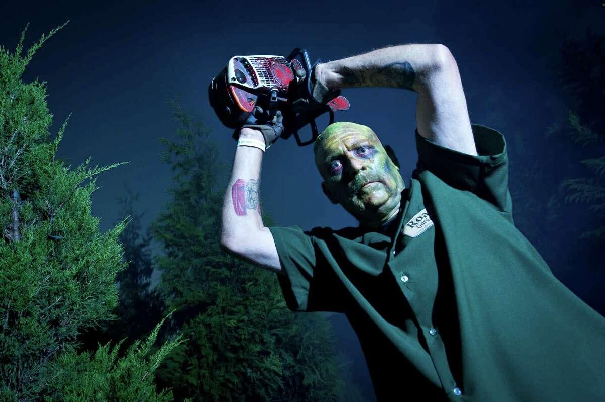 Howl-O-Scream actors in action at SeaWorld San Antonio.