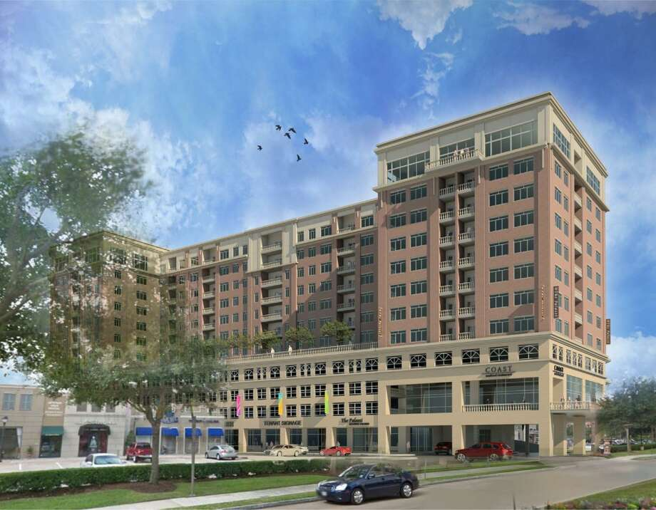 A rendering of a multifamily project planned for a site in Uptown Park. Photo: Courtesy Of AmREIT