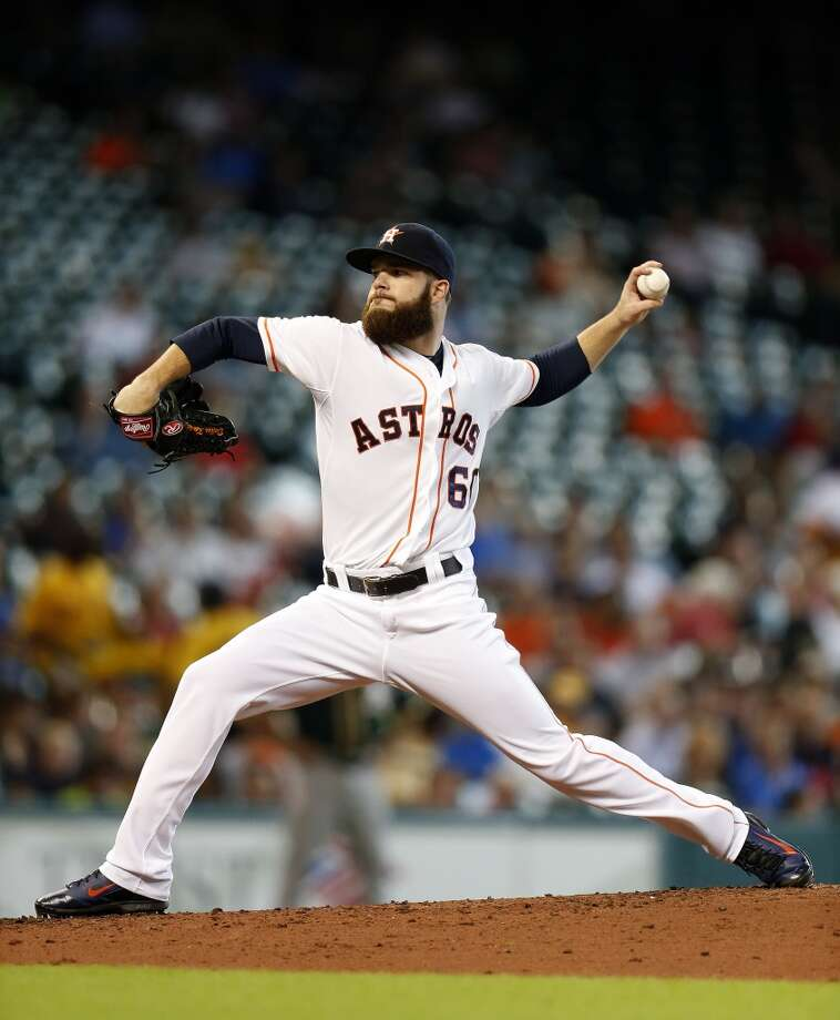 July 30: Astros 8, A's 1Dallas Keuchel gave up a homer on his first pitch of the second inning, but that was the only damage the A's could inflict on him as he went the distance and the Astros won the series over the division leaders.  Record: 44-64. Photo: Karen Warren, Houston Chronicle
