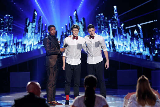AMERICA'S GOT TALENT -- Episode 910 -- Pictured: (l-r) Nick Cannon, Sean & Luke -- (Photo by: Eric Liebowitz/NBC) Photo: NBC, Eric Liebowitz/NBC / 2014 NBCUniversal Media, LLC.