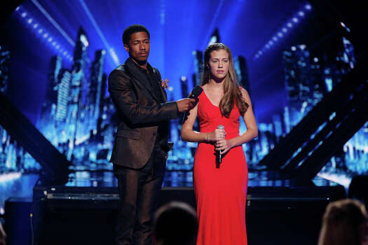 AMERICA'S GOT TALENT -- Episode 910 -- Pictured: (l-r) Nick Cannon, Julia Goodwin -- (Photo by: Eric Liebowitz/NBC) Photo: NBC, Eric Liebowitz/NBC / 2014 NBCUniversal Media, LLC.