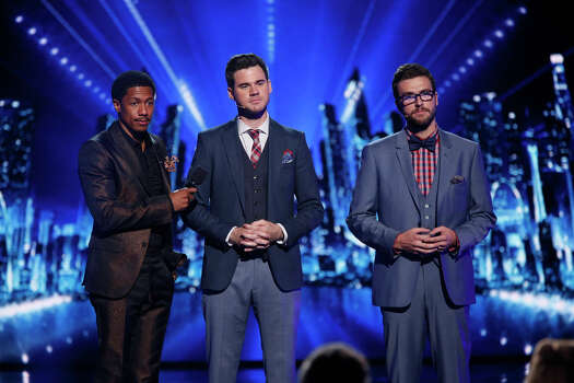 AMERICA'S GOT TALENT -- Episode 910 -- Pictured: (l-r) Nick Cannon, David and Leeman -- (Photo by: Eric Liebowitz/NBC) Photo: NBC, Eric Liebowitz/NBC / 2014 NBCUniversal Media, LLC.