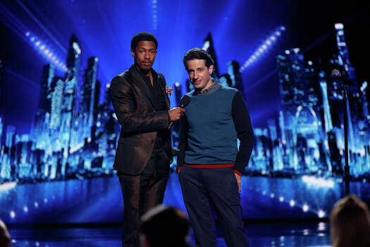 AMERICA'S GOT TALENT -- Episode 910 -- Pictured: (l-r) Nick Cannon, Dan Naturman -- (Photo by: Eric Liebowitz/NBC) Photo: NBC, Eric Liebowitz/NBC / 2014 NBCUniversal Media, LLC.