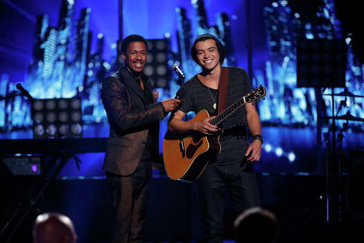 AMERICA'S GOT TALENT -- Episode 910 -- Pictured: (l-r) Nick Cannon, Miguel Dakota -- (Photo by: Eric Liebowitz/NBC) Photo: NBC, Eric Liebowitz/NBC / 2014 NBCUniversal Media, LLC.