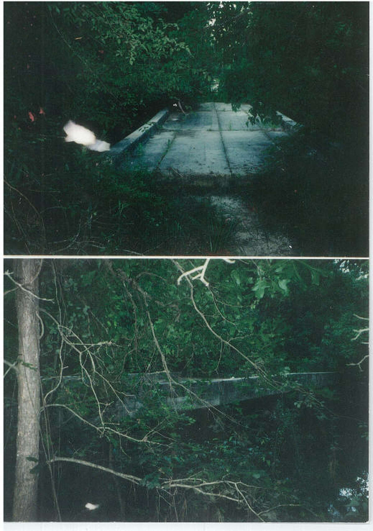 Two light phenomena photographed by Riggs, the lights did not show up until the film was developed he said, leaving him and the photo technician in the dark about what it was.This picture forms part of the evidence Riggs will present in his class