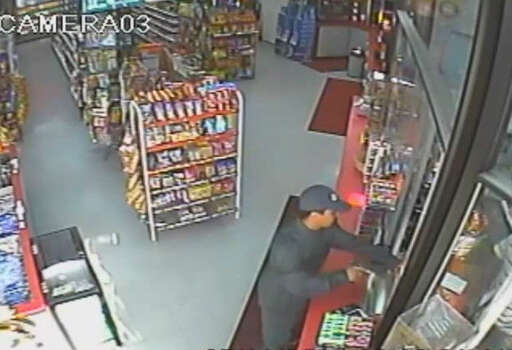 ROBBER PAYS UP: A routine gas station robbery probably didn't go as planned for a Houston criminal earlier this month when he was forced to return a portion of his loot to the counter in order to leave the business he had just robbed.SEE THE VIDEO: Robber has to pay his way out of gas station he just robbed Photo: Houston Crime Stoppers