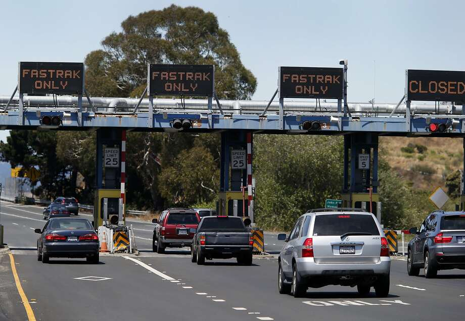 The Richmond-San Rafael Bridge had three FasTrak dedicated lanes Wednesday July 30, 2014. Cameras at some Bay Area bridges are failing to accurately record license plates including the Richmond-San Rafael Bridge. Photo: Brant Ward, San Francisco Chronicle