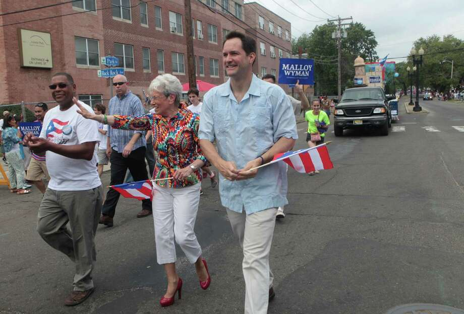 The annual Puerto Rican Parade of Fairfield County heads down Park Avenue in Bridgeport, Conn. on Sunday, June 13, 2014. Nancy Wyman, Jim Himes Photo: BK Angeletti, B.K. Angeletti / Connecticut Post freelance B.K. Angeletti