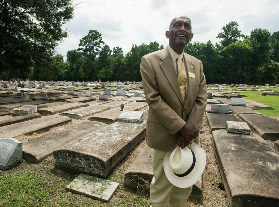 Donald Taft poses for a photo at Greenlawn Cemetery on Tuesday afternoon. Taft, owner of Community Cemeteries, Inc., is expanding one of his company's burial grounds to Magnolia Street. Photo taken Tuesday 7/29/14 Jake Daniels/@JakeD_in_SETX Photo: Jake Daniels / ©2014 The Beaumont Enterprise/Jake Daniels