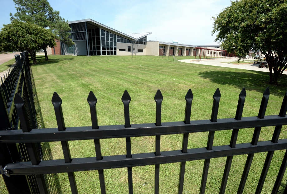 Port Arthur Independent School District's Washington, pictured, and Adams Elementary Schools have the highest cost per square foot in of any other school inTexas. The District said the high cost originates from hurricane proofing and special items like fencing. Photo taken Guiseppe Barranco Guiseppe Barranco/@spotnewsshooter Photo: Guiseppe Barranco, Photo Editor