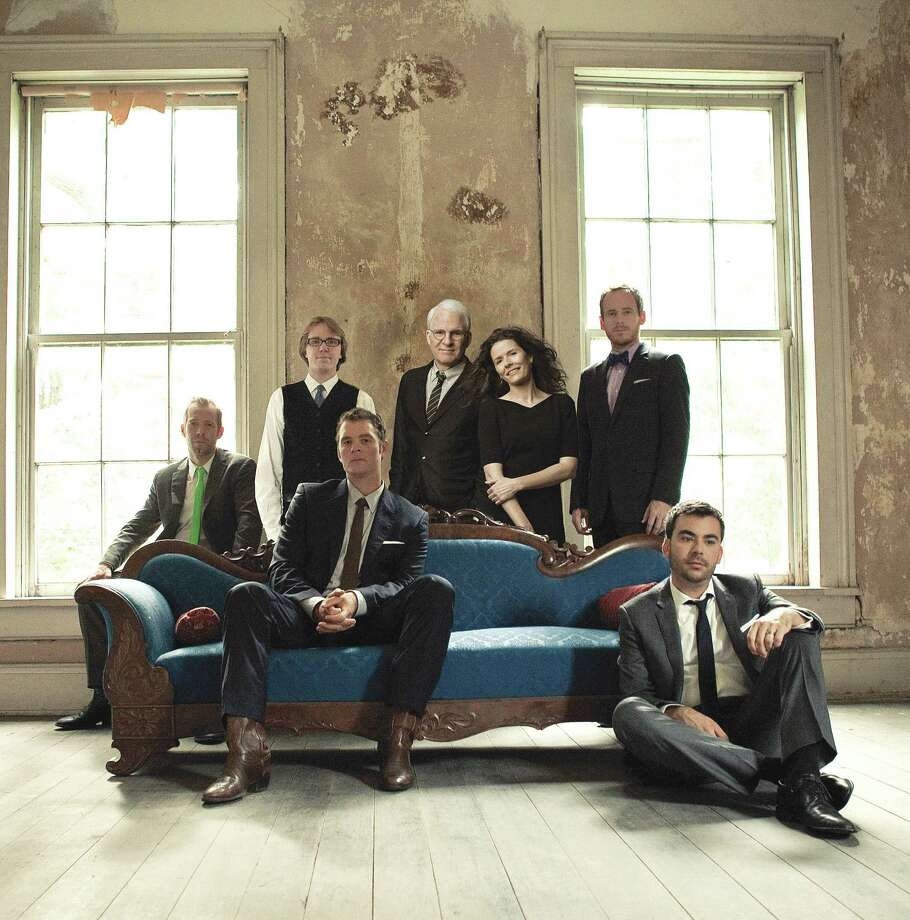 Steve Martin and Edie Brickell, center, and the Steep Canyon Rangers will perform Thursday for the Houston Symphony's Summer in the City series. Photo: Courtesy Photo