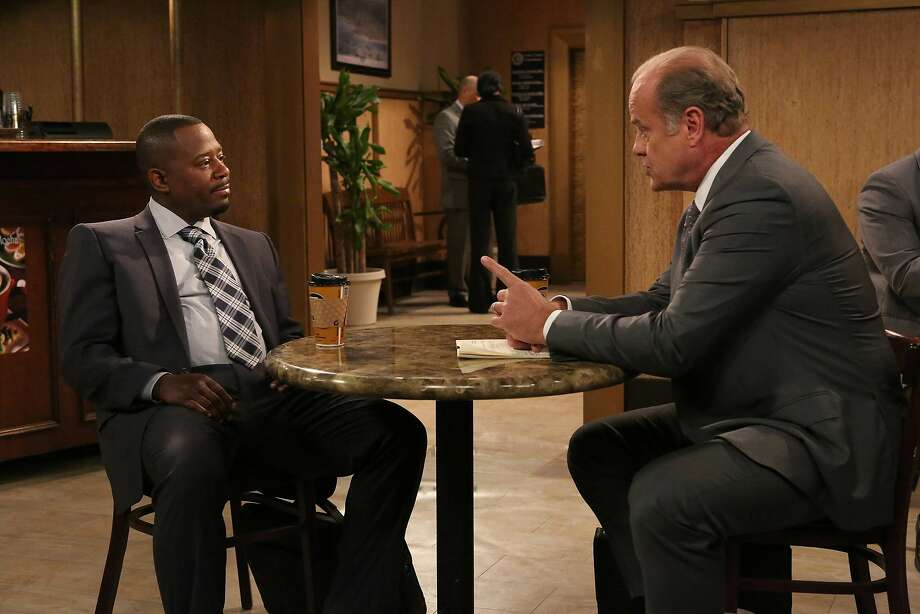"Marcus Jackson (Martin Lawrence, left) and Allen Braddock (Kelsey Grammer) are both lawyers undergoing life changes and in need of a little assistance when they meet on the FX sitcom ""Partners."" Photo: Byron Cohen, FX"