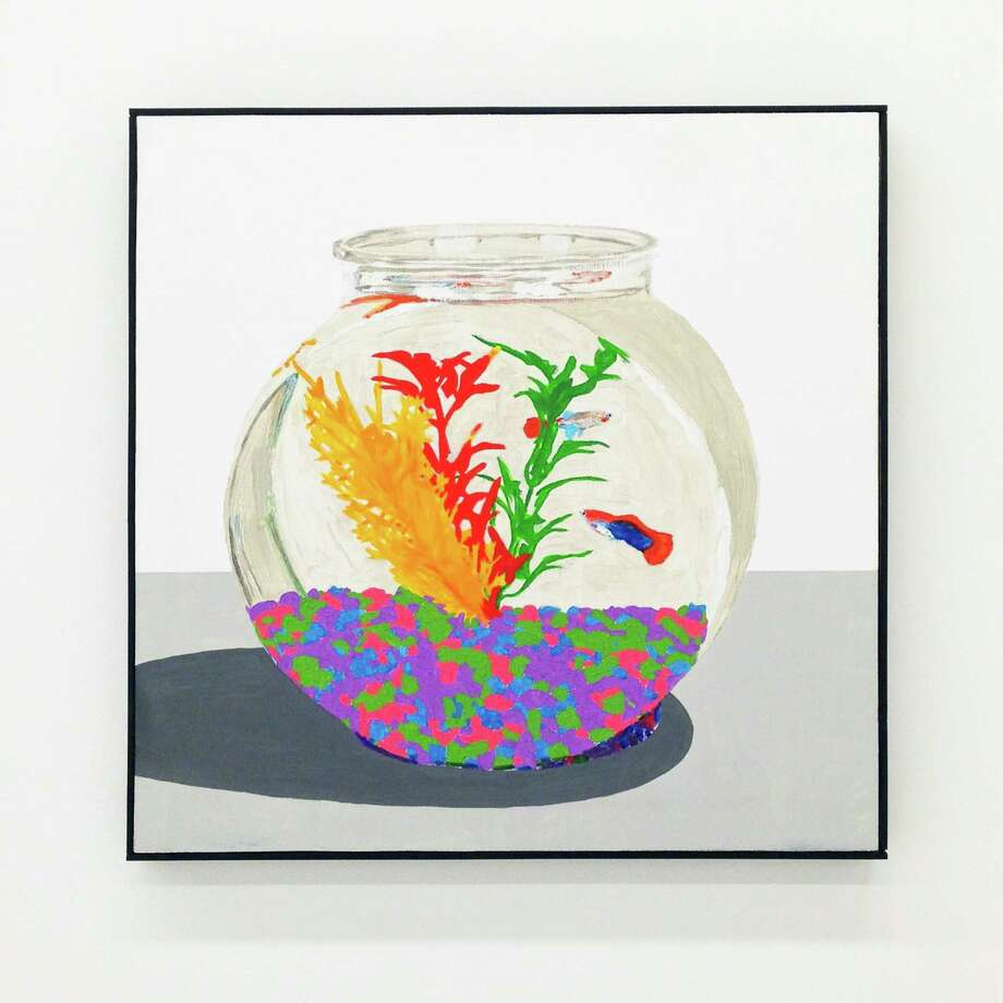 """Bradley Kerl's """"Aquarium"""" is on view in the group show """"Summer Salts"""" at Art Palace. Photo: Art Palace / ONLINE_YES"""