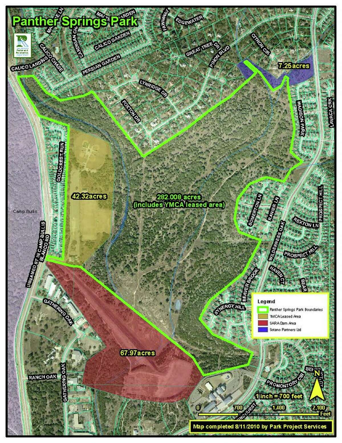 Panther Springs Park, is a 289 acre tract of undeveloped park land located in the Stone Oak/Wilderness Oak area in North Central San Antonio.