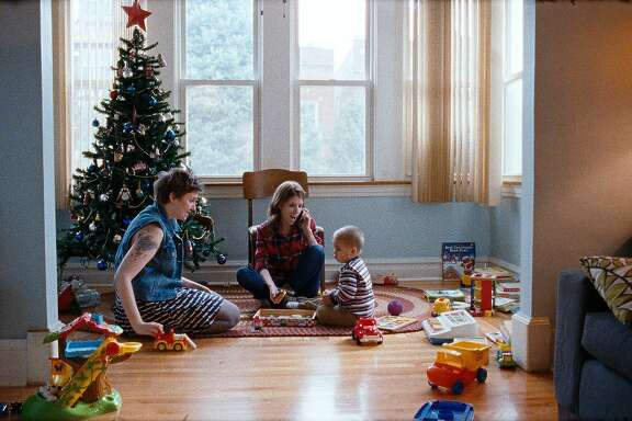 Lena Dunham, Anna Kendrick and Jude Swanberg in HAPPY CHRISTMAS, a Magnolia Pictures release.