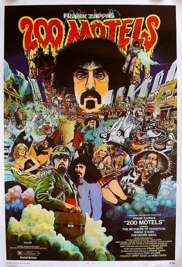 """Poster for Frank Zappa's 1971 movie """"200 Motels."""" Photo: United Artists 1971"""