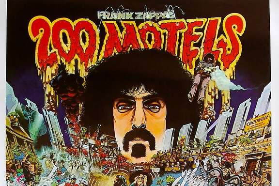 "Poster for Frank Zappa's 1971 movie ""200 Motels."""
