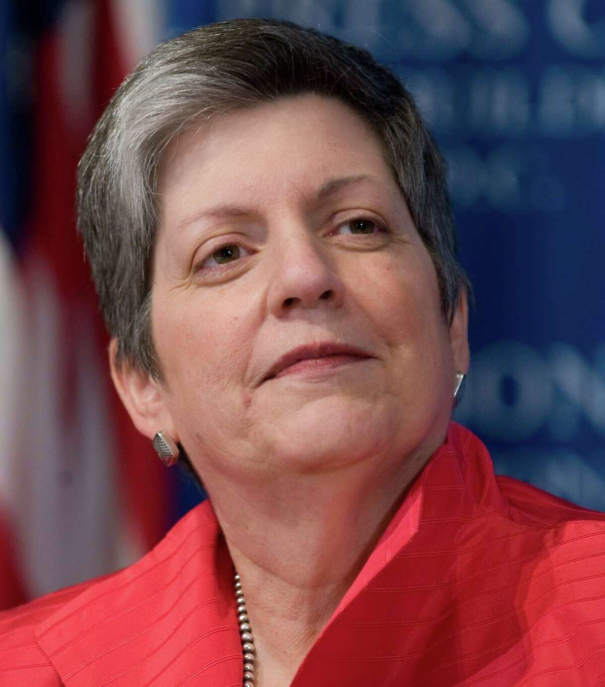 US Secretary of Homeland Security Janet Napolitano prior to speaking about aviation security issues at the National Press Club in Washington, DC, April 15, 2010. AFP PHOTO / Saul LOEB (Photo credit should read SAUL LOEB/AFP/Getty Images)