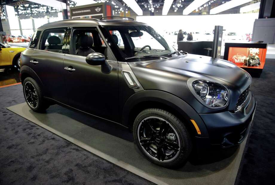 "HOLD FOR RELEASE UNTIL 12:01 A.M. EDT WEDNESDAY, JULY 30. THIS PHOTO MAY NOT BE PUBLISHED, BROADCAST OR POSTED ONLINE BEFORE 12:01 A.M. EDT WEDNESDAY - FILE - In this Feb. 7, 2014 file photo, a 2014 Mini Cooper S Countryman All4 is on display during the media preview at the Chicago Auto Show at McCormick Place in Chicago. The four-door Countryman was the only one of 12 cars to earn a ""good"" rating in new frontal crash tests performed by the Insurance Institute for Highway Safety, an Arlington, Va.-based safety group that's funded by insurers. (AP photo/Nam Y. Huh) Photo: Nam Y. Huh, STF / AP"
