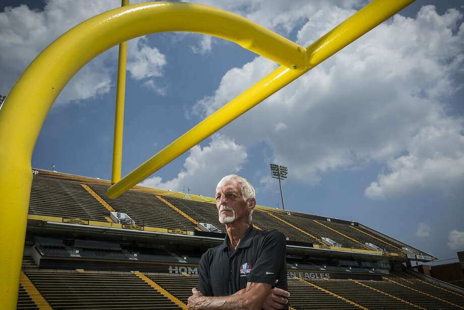 Ray Guy stands for a portrait on the University of Southern Mississippi's football field on July 24, 2014 in Hattiesburg. Guy, a punter for the Oakland/Los Angeles Raiders from 1973-1986, was inducted into the NFL Hall of Fame on February 1, 2014. Photo: Edmund D. Fountain, Special To The Chronicle
