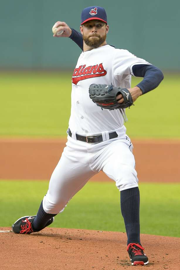 CLEVELAND, OH - JULY 30: Starting pitcher Corey Kluber #28 of the Cleveland Indians pitches during the first inning against the Seattle Mariners at Progressive Field on July 30, 2014 in Cleveland, Ohio. (Photo by Jason Miller/Getty Images) Photo: Jason Miller, Getty Images