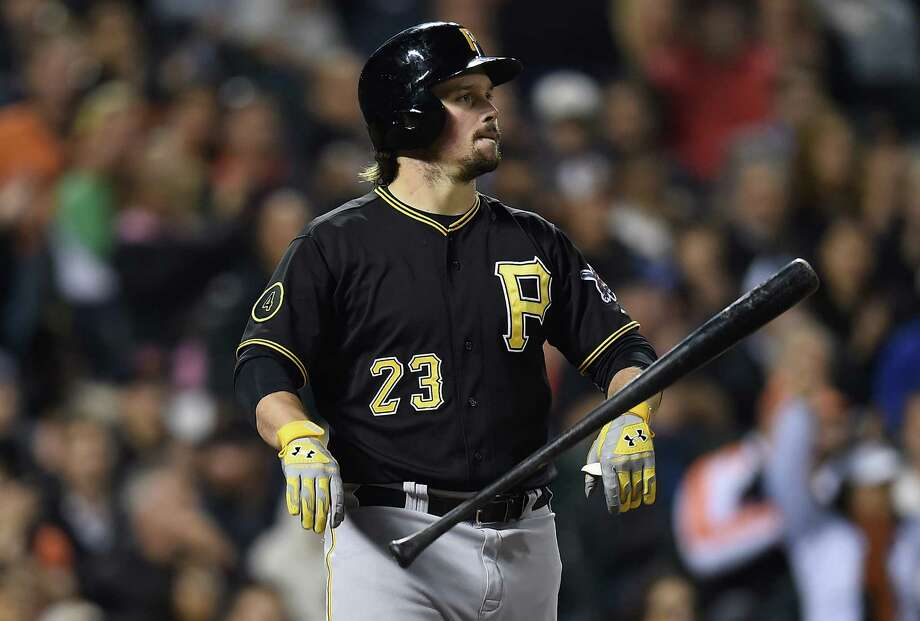 SAN FRANCISCO, CA - JULY 29:  Travis Snider #23 of the Pittsburgh Pirates reacts by throwing his bat to the ground after striking out against the San Francisco Giants in the top of the six inning at AT&T Park on July 29, 2014 in San Francisco, California.  (Photo by Thearon W. Henderson/Getty Images) ORG XMIT: 477587113 Photo: Thearon W. Henderson / 2014 Getty Images