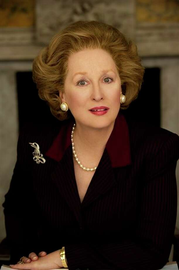 "Meryl Streep as Margaret Thatcher in ""The Iron Lady"": Looks like her? Oh, yes.  Sounds like her?  Uncanny.  Result:  Triumph. Photo: Alex Bailey, AP / The Weinstein Company"