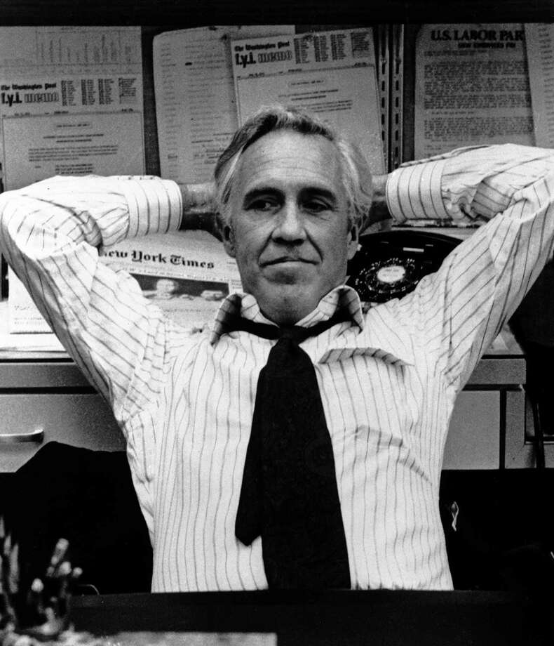 """Jason Ribards as Ben Bradlee in """"All the President's Men"""":  Looked like him? General ballpark.  Sounded like him? Not far off.  Result:  The vibe was right.  A great success. Photo: Associated Press / WARNER BROS"""