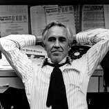 "Jason Ribards as Ben Bradlee in ""All the President's Men"":  Looked like him? General ballpark.  Sounded like him? Not far off.  Result:  The vibe was right.  A great success."