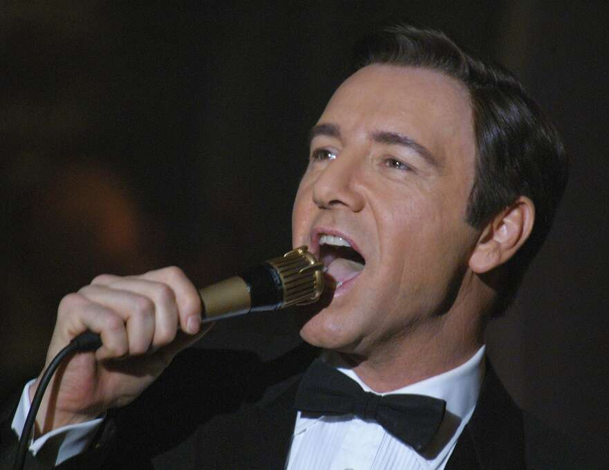 """Kevin Spacey as Bobby Darin in """"Beyond the Sea"""":  Looked like him? No.  Maybe like him 20 years older.  Sounded like him? Close enough. Result: Calamity. Photo: JAY MAIDMENT, AP / LIONS GATE FILMS"""