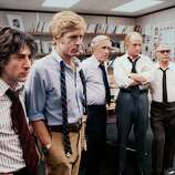 "Redford and Hoffman in ""All the President's Men"":  They were 10 years older than the men they portrayed, so they brough an entirely different atmosphere.  In the end, they played their screen persona, and it worked."
