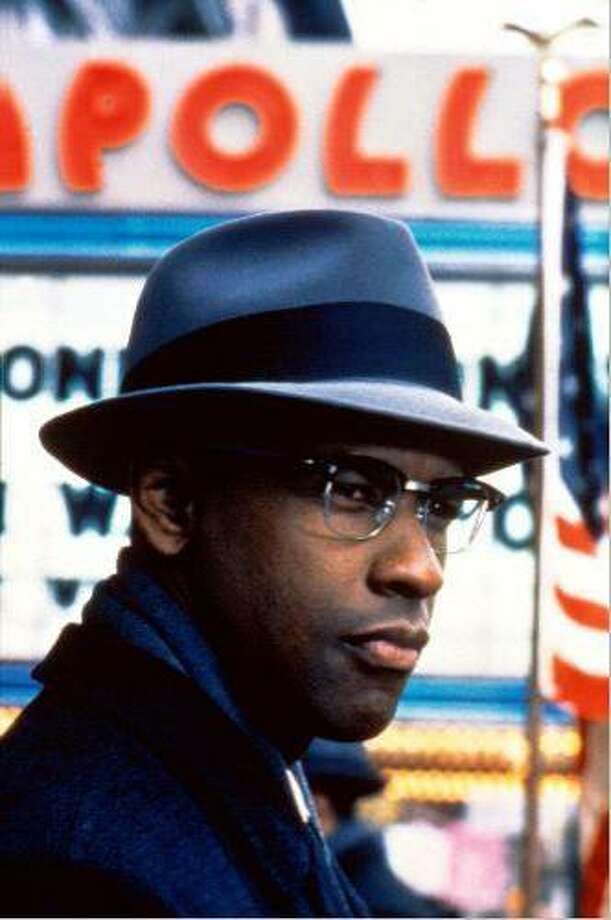 "Denzel Washington in ""Malcolm X"":  Looks like him? Close enough.  Sounds lile him? Even closer.  Result:  Triumph.  Watch this movie and then watch videos of Malcolm X -- you'll see what an observant performance Washington gave."