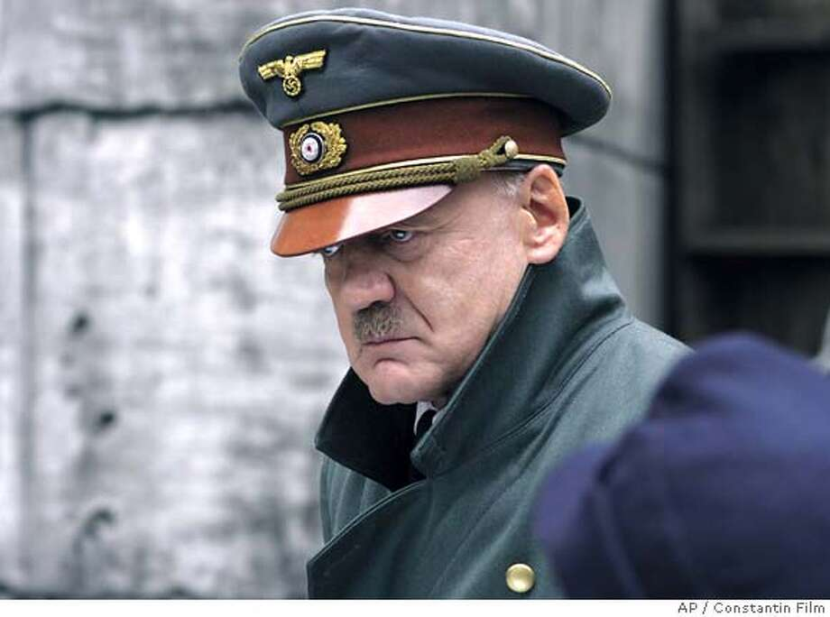 "Bruno Ganz in ""Downhall"": Looks like him?  Yes.  Sounds like him?  Scarily so in his rages.  Result:  Triumph. Of the many screen Hitlers, this was the best.  Ganz showed us Hitler in full lunatic swing and also in private moments with his adoring staff -- we saw what he really was but also how he saw himself."