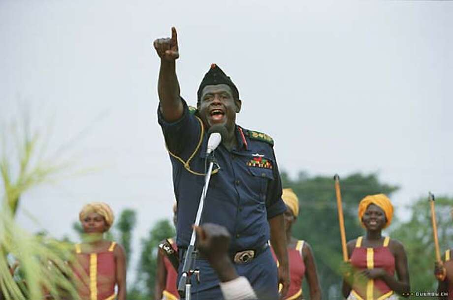 "Forest Whitaker as Idi Amin in ""The Last King of Scotland"":  Looks like him? Close enough.  Sounds like him?  Not sure.  Result:  Amazing.   He played Idi Amin as a big, selfish, evil, highly perceptive, extremely sensitive eight year old boy.  Terrifying."