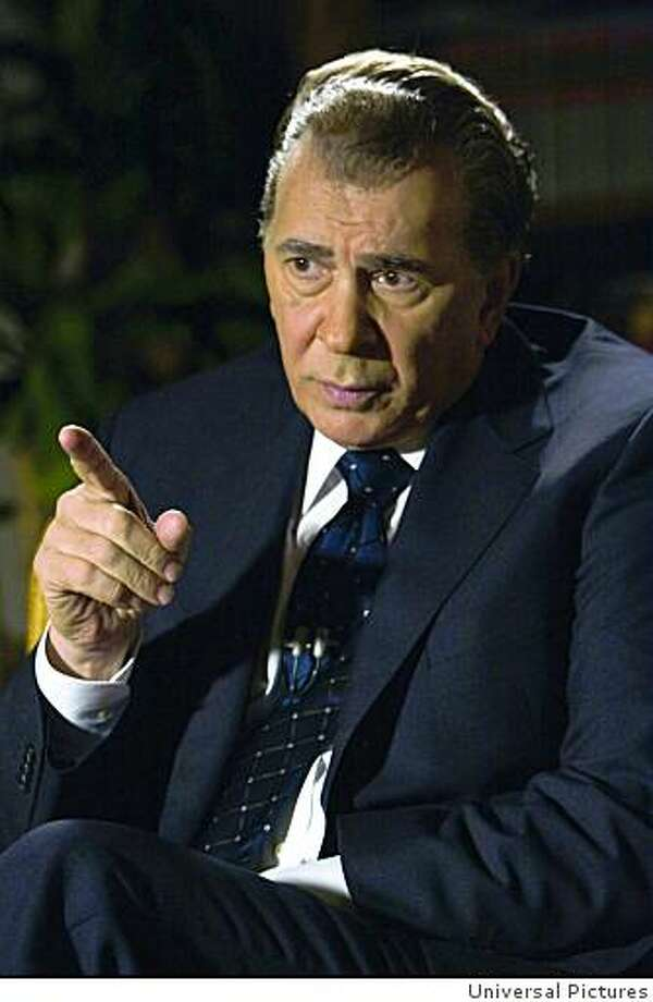 "Frank Langella in ""Frost/Nixon"":   As Nixon, Langella did what Bruce Greenwood did as Kennedy -- with equally excellent results."
