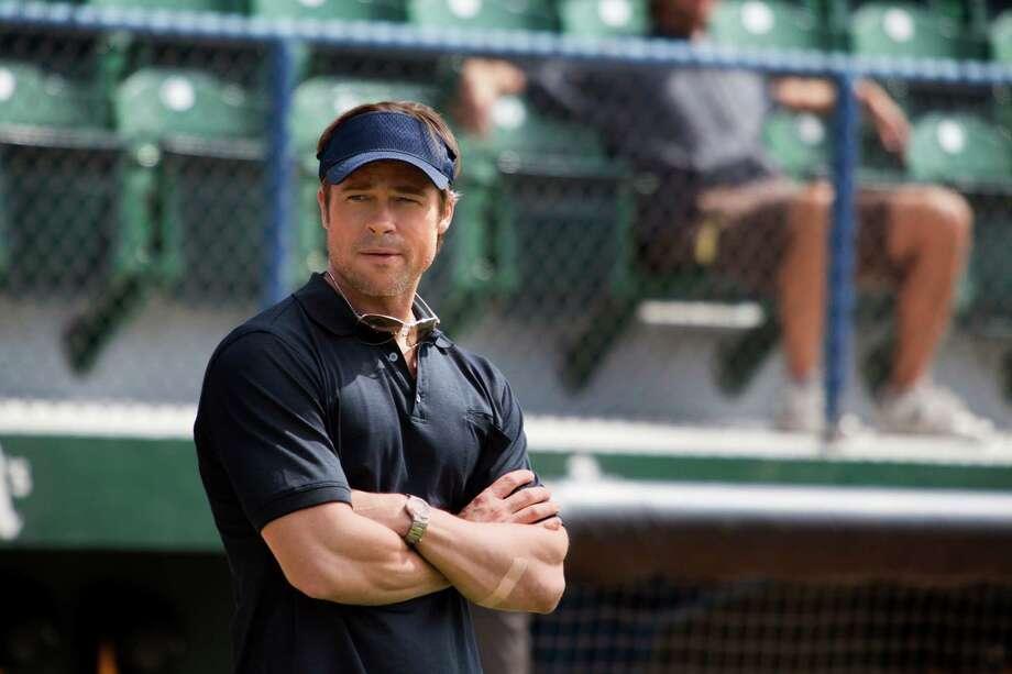 "Brad Pitt as Billy Beane in ""Moneyball"": Looks like him? General ballpark.  Sounds like him?  No, sounds like Brad Pitt.  Result? Success. Photo: Melinda Sue Gordon, The CW"