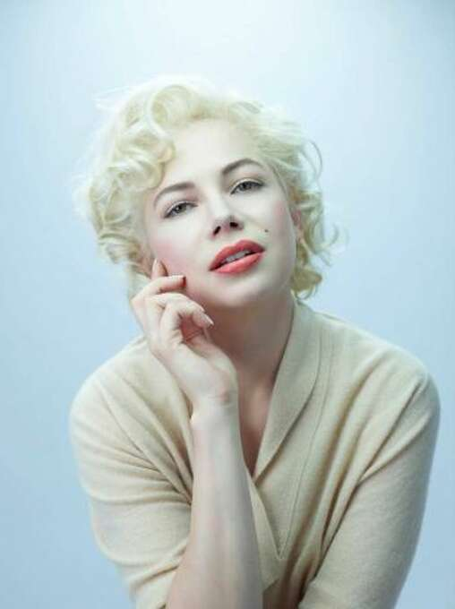 """Michelle Williams in """"My Week With Marilyn"""":  Looks like her?  Enough.  Sounds like her?  Enough.  Result:  Triumph.  This performance articulates the modern conception of Monroe, as a kind of saint of sex.  Technically and spiritually sophisticated.  Beautiful work."""