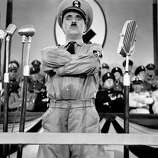 "Chaplin as Hitler in ""The Great Dictator"":  Looks like him? Oh, yes.  Sounds like him? Sort of.  Result:  Hilarious."