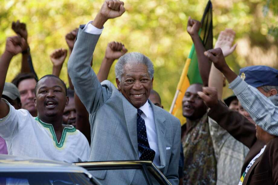 "Morgan Freeman as Nelson Mandela in ""Invictus"":  Looks like him? Pretty much.  Sounds like him:  Close enough.  Result:  Mixed.  It's not Freeman's fault, but his voice is so much his signature that to hear him speaking in another way was disorienting. Photo: Keith Bernstein, AP / Warner Bros."