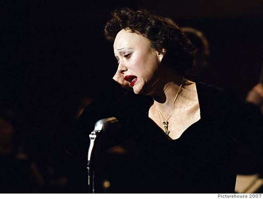 "Marion Cotillard as Edith Piaf in ""La Vie en Rose"":  Looks like her?  Oh, yes.  Sounds like her?  Yes.  Result:  One of the more amazing chameleonic transformations of recent decades."