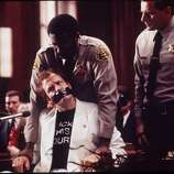 "Woody Harrelson as Larry Flynt in ""The People vs. Larry Flynt"":  Looks like him?  A little.  Sounds like him? A little.  Result?  Success."