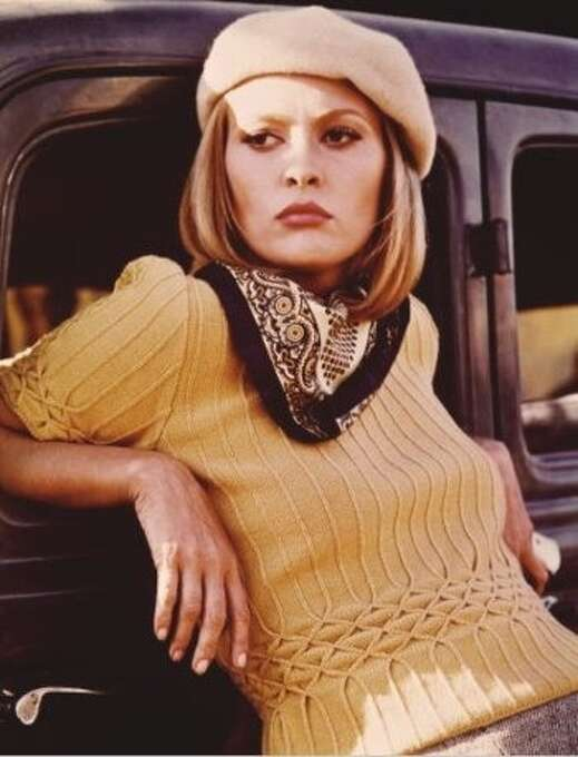 "Faye Dunaway in ""Bonnie and Clyde"": She looked nothing like Bonnie Parker, and who knows what Bonnie Parker sounded like?  In a sense, she gave us the fantasy of a 1960s woman living in 1932. Photo: Warner Bros. 1967"