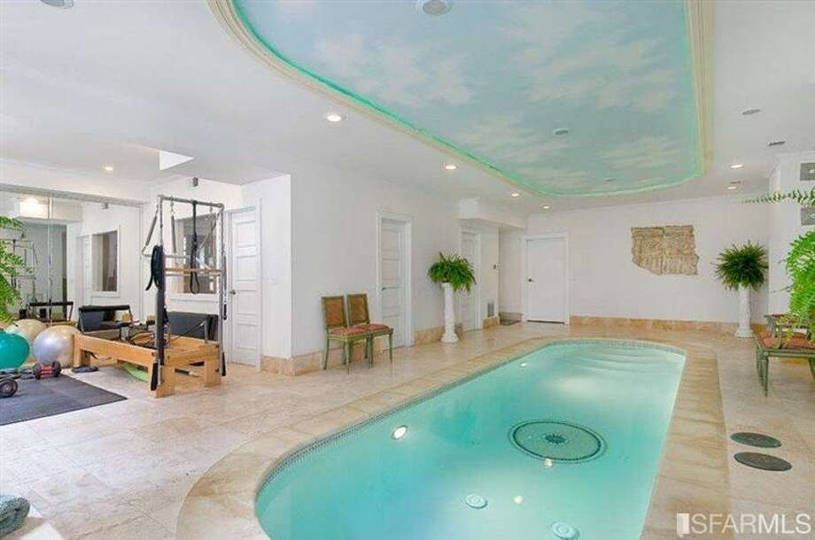 The 6.5-million Pacific Heights mansion has an indoor lap pool and a gym. Photo: MLS