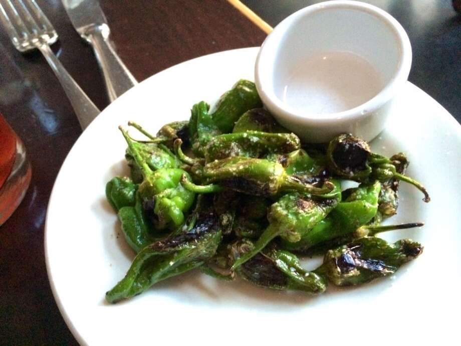 Padron peppers ($7.50) are a good accompaniment to the cocktails.