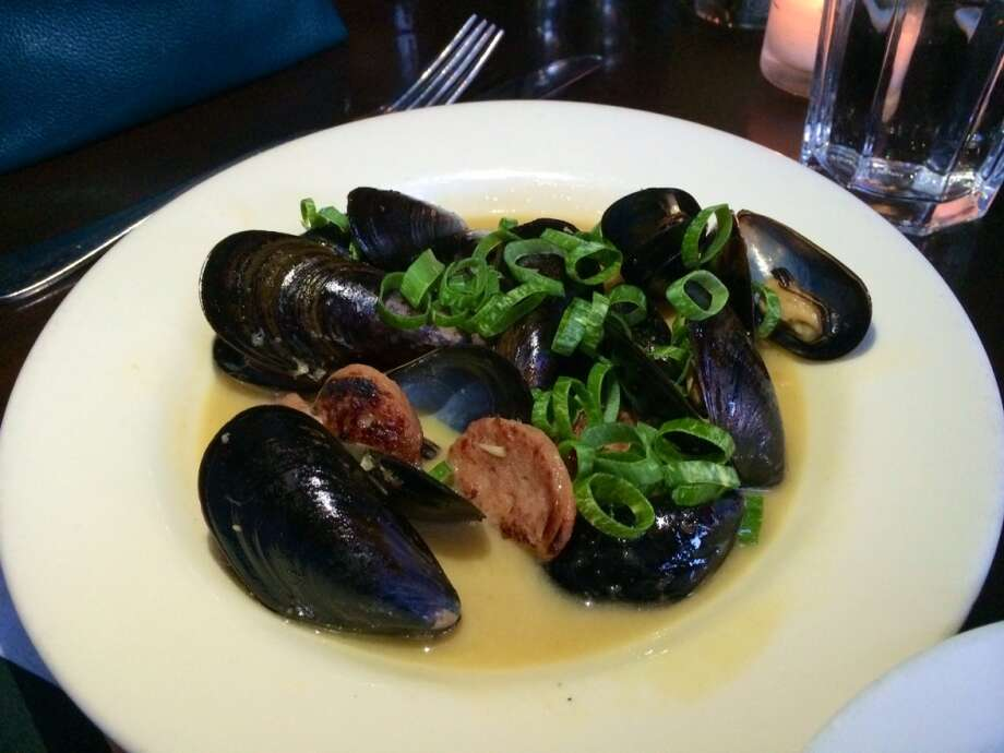 Mussels were in a too-sweet broth that turned the seafood metallic- tasting ($10.50).