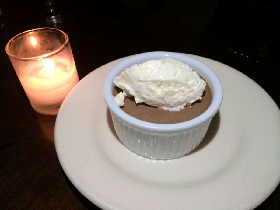 Chocolate pot de creme is one of my all-time favorite desserts ($8).