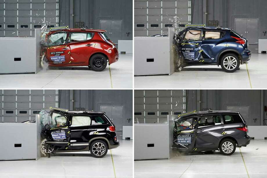 The Insurance Institute for Highway Safety has released its ratings for 2014 cars in the small overlap front crash test. Click through the photos to see how the cars stack up. Photo: Uncredited, AP / Insurance Institute for Highway Safety