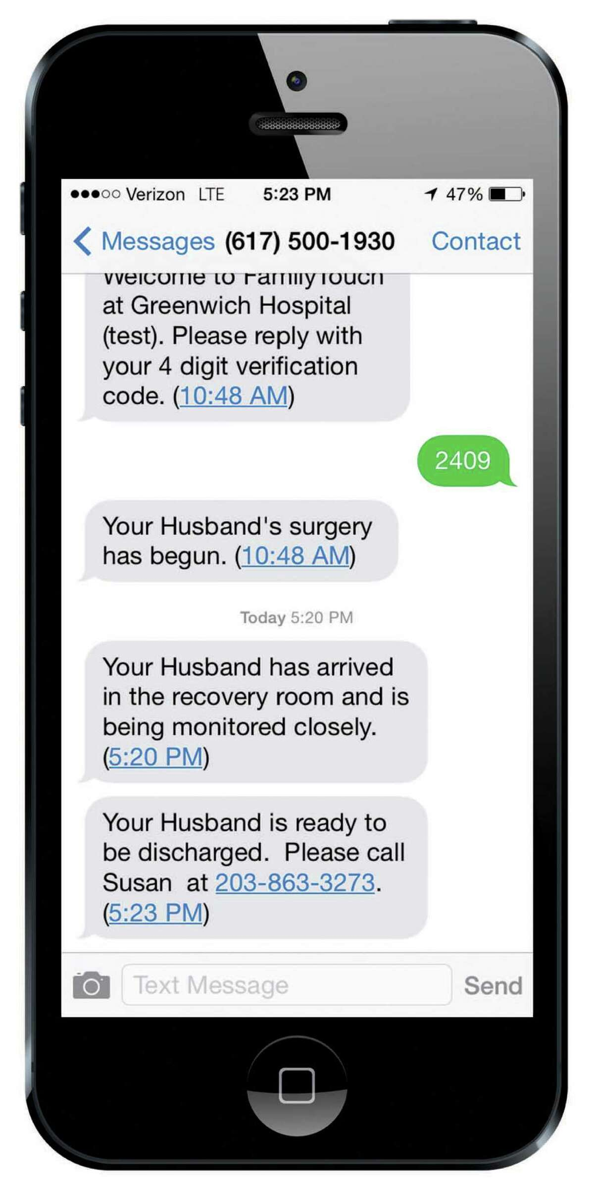 Greenwich Hospital is offering a service that allows patients getting ambulatory surgery to have their health care team text friends and family about their progress. It's one of several unique ways hospitals are using technology.