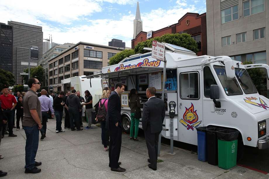 Senor Sisig slings a variety of Filipino-California burritos. Photo: Justin Sullivan, Getty Images