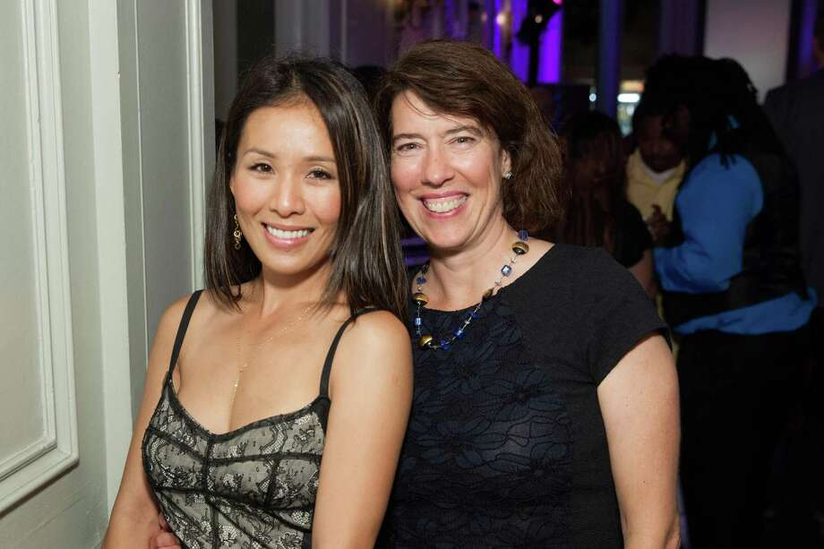 Meno Crompton and GLIDE's Co-Executive Director Kristen Growney Yamamoto at the GLIDE Legacy Gala in San Francisco on July 26, 2014. Photo: Drew Altizer Photography/SFWIRE, Drew Altizer Photography / © 2014 Drew Altizer